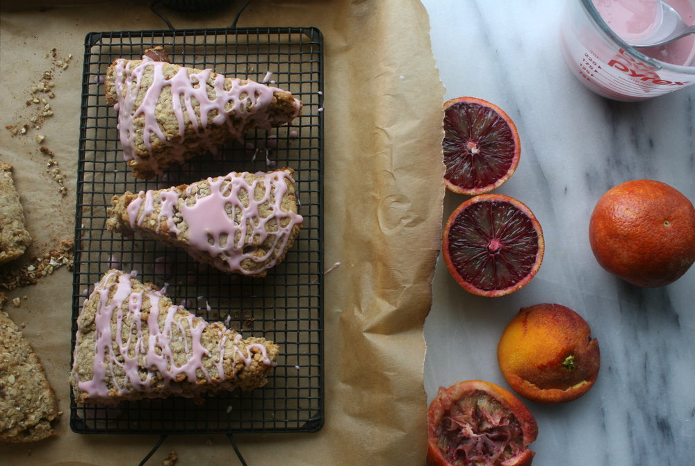 healthy winter scone recipe with blood oranges and Meyer Lemons by Cake Bloom