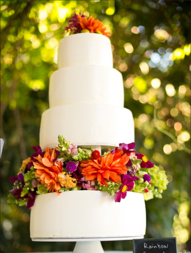 Summer Wine Country Wedding Cake by Cake Bloom, Sonoma, California- Organic Wedding Cake with Dahlias and bold summer colors.png