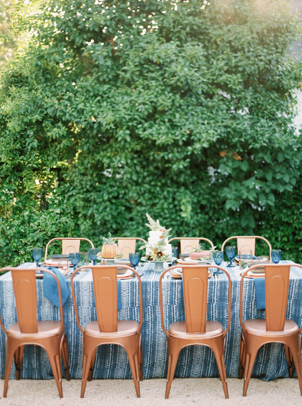 Modern Americana inspiration-wedding inspiration-blue and copper style-Encore Event Rentals-Emily March Payne Photography