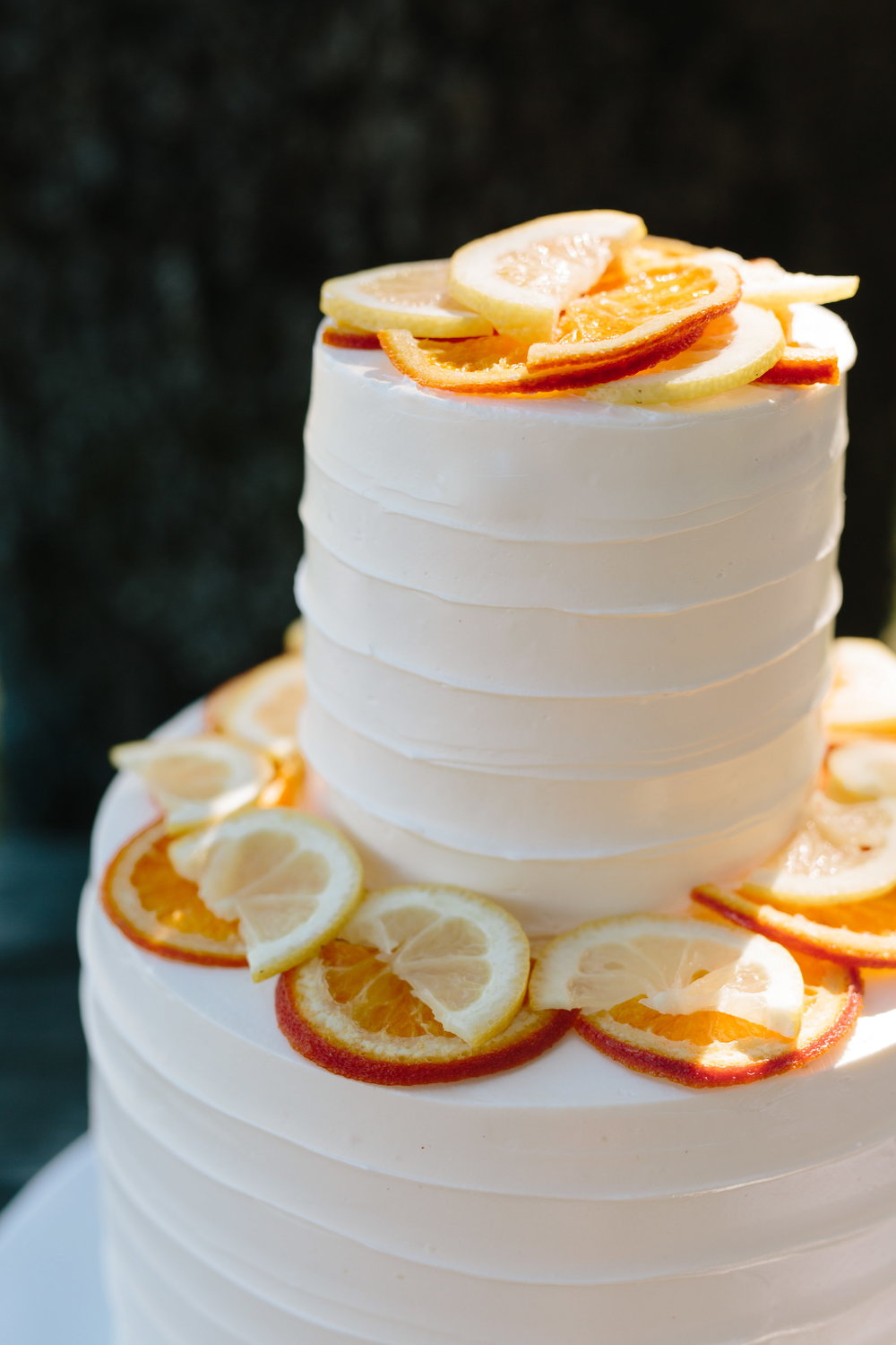 Candied Citrus Slice Wedding Cake - Cakebloom - Sonoma, CA - Simone-Anne- Photography - Scribe-Winery-Wedding