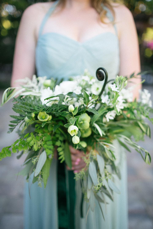 Bridesmaid bouquet inspiration - Lush green floral idea - Venne Floral - Nichols Photographers