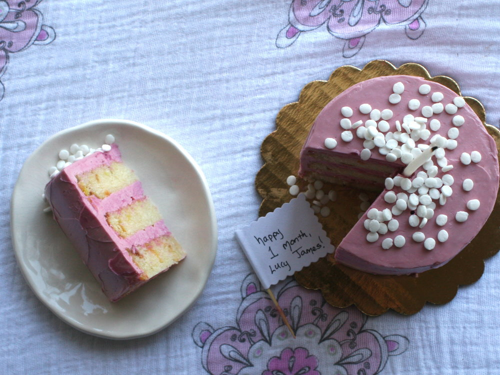 All natural pink frosting method by Cake Bloom with Supernatural Kitchen vegetable food colors
