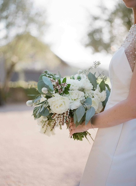 Bridal bouquet for a Modern Elegant Wine Country Wedding by Scarlett and Grace |planning by Napa Valley Celebrations | Meg Smith Photography