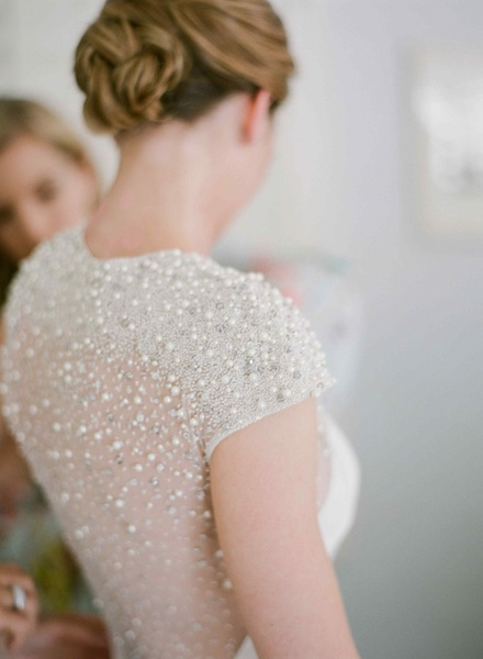 Glam Wine Country Wedding Dress by Lela Rose | Meg Smith Photography