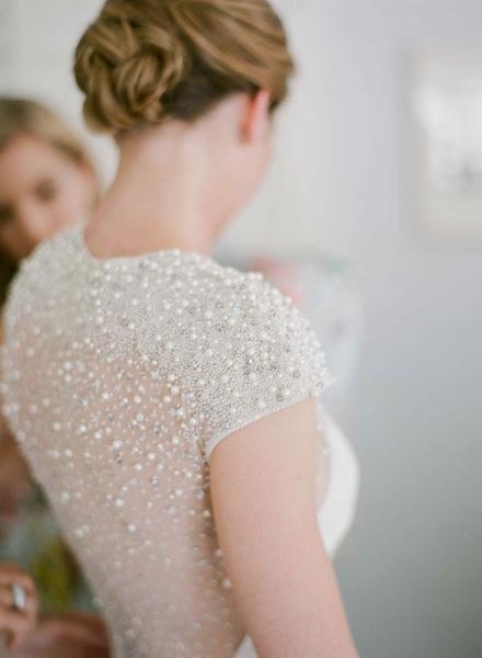 Glam Wine Country Wedding Dress by Lela Rose | Meg Smith Photography