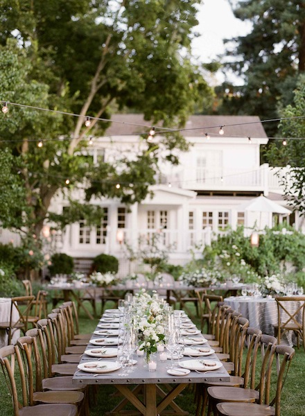 Modern Elegant Garden Wedding in Wine Country Wedding | florals by Scarlett and Grace, cake by Cake Bloom, planning by Napa Valley Celebrations | Meg Smith Photography