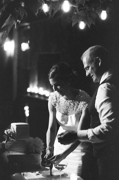 Square Wedding Cake idea for a Modern Wedding in Napa | Meg Smith Photography