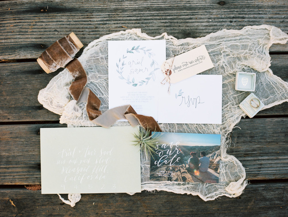 Ariel + Amr - Northern California wedding inspiration - Invitation Suite