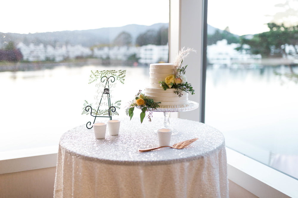 Intimate Northern California Wedding at the Water | Tiburon, California | Cake Bloom, Sonoma