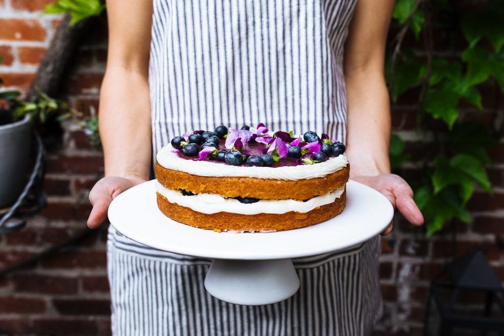 Lemon creme fraiche cake recipe by Cake Bloom | Photo by Emma K Morris