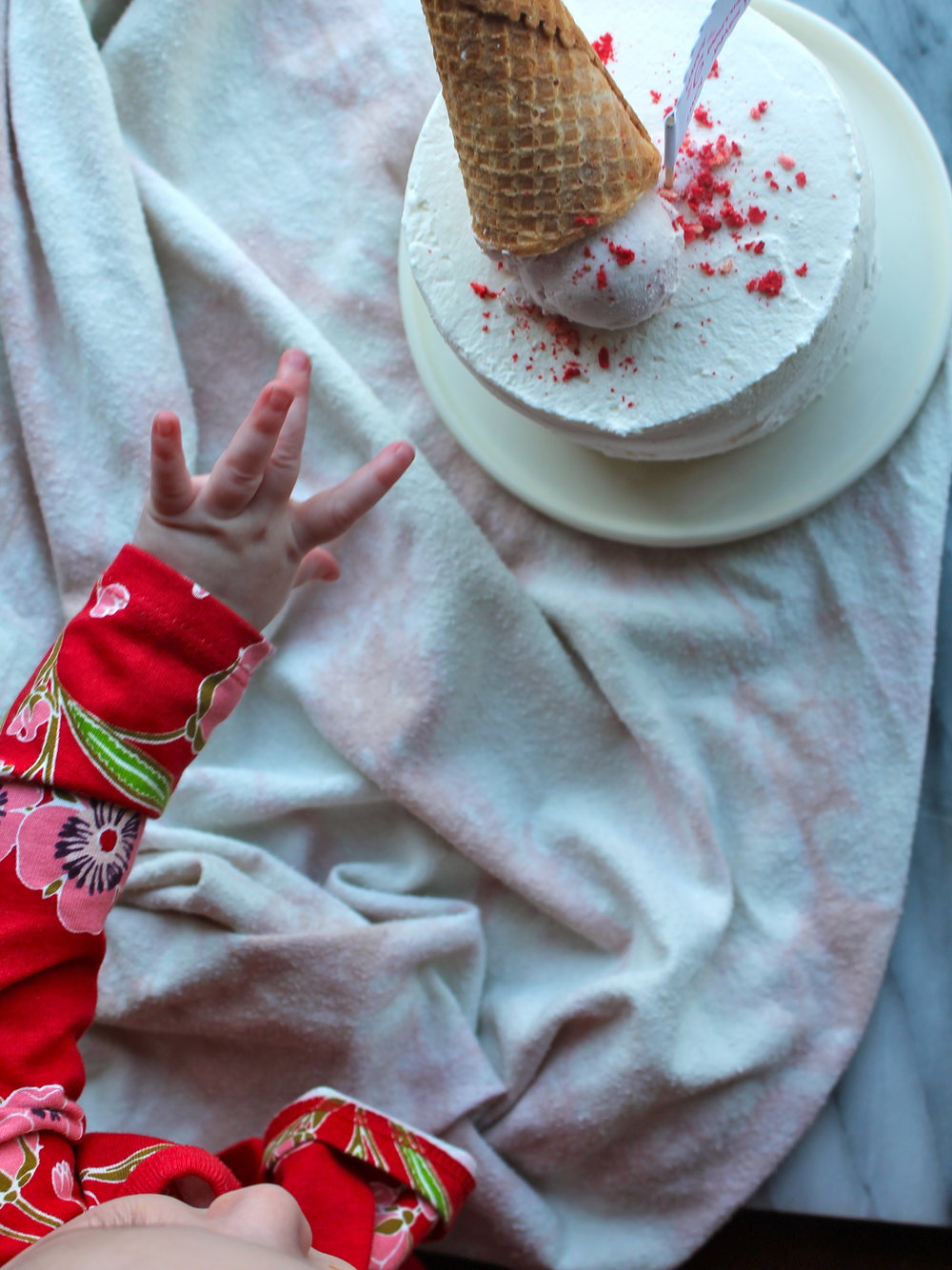 neapolitan ice cream cake for children's birthday party