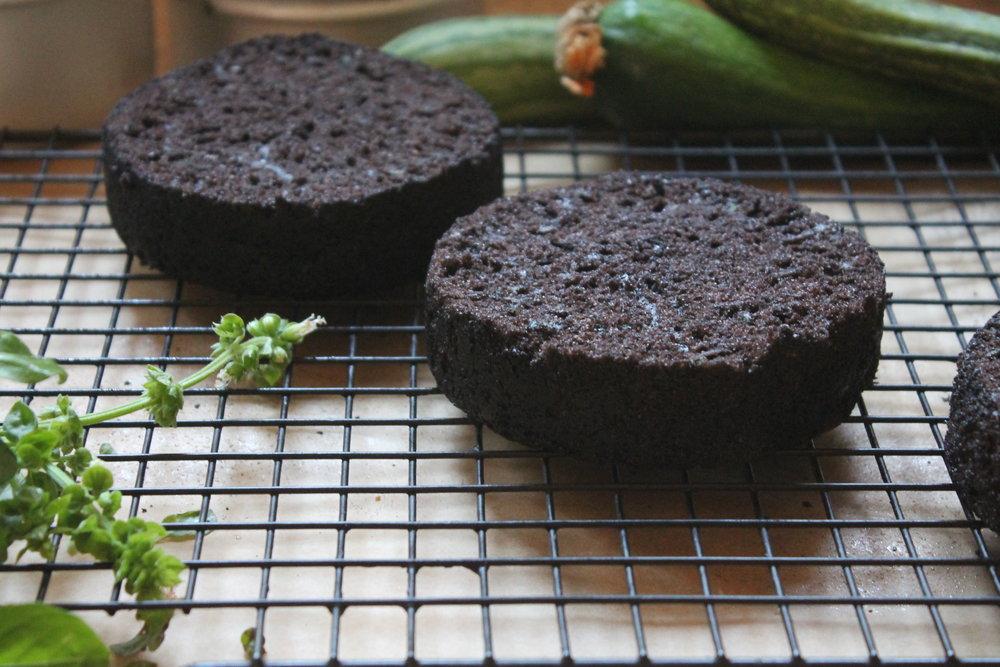 chocolate zucchini cake layers