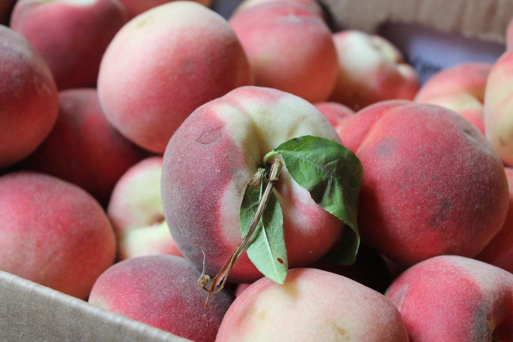 organic peaches from Green String Farms, Sonoma, California