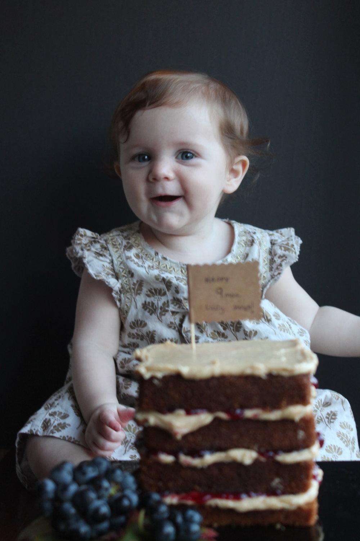 Peanut Butter and Jelly Bake Cake Idea