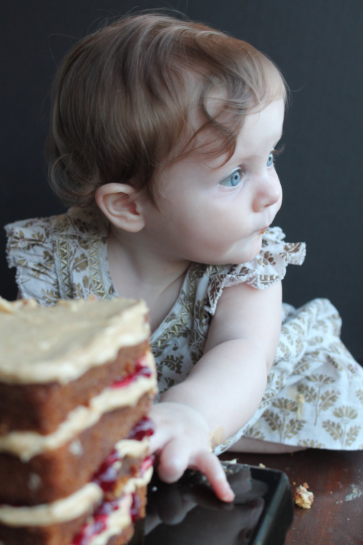 Homemade PBJ Smash Cake Idea for Baby