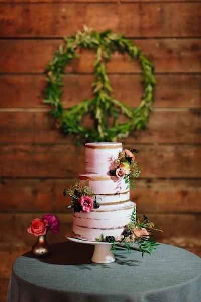 Organic pink semi-naked wedding cake | Olympias Valley Estate | Cake Bloom | Photo by Sonya Ruel.jpg