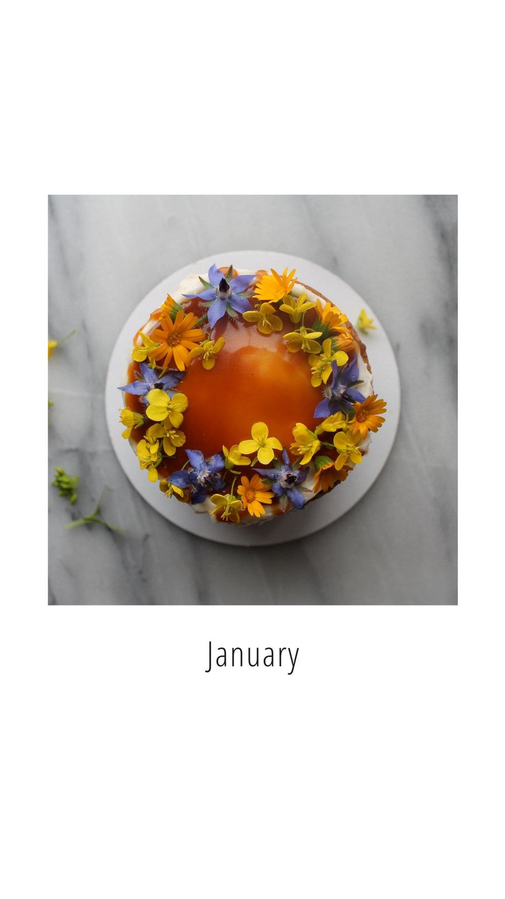 January Cake Styling Inspiration