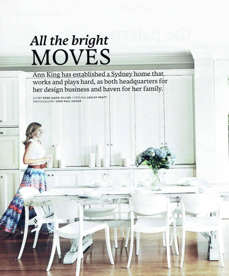 House and Garden: Ann King Home Feature
