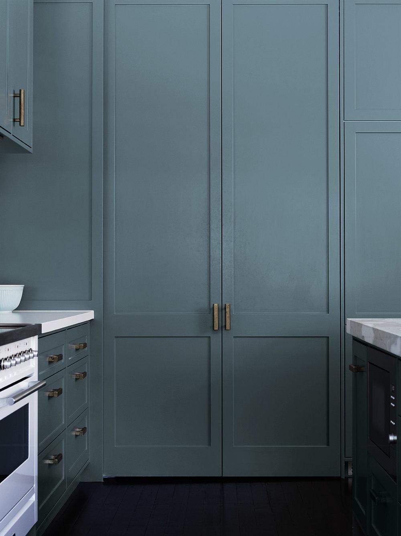 Blue grey pantry