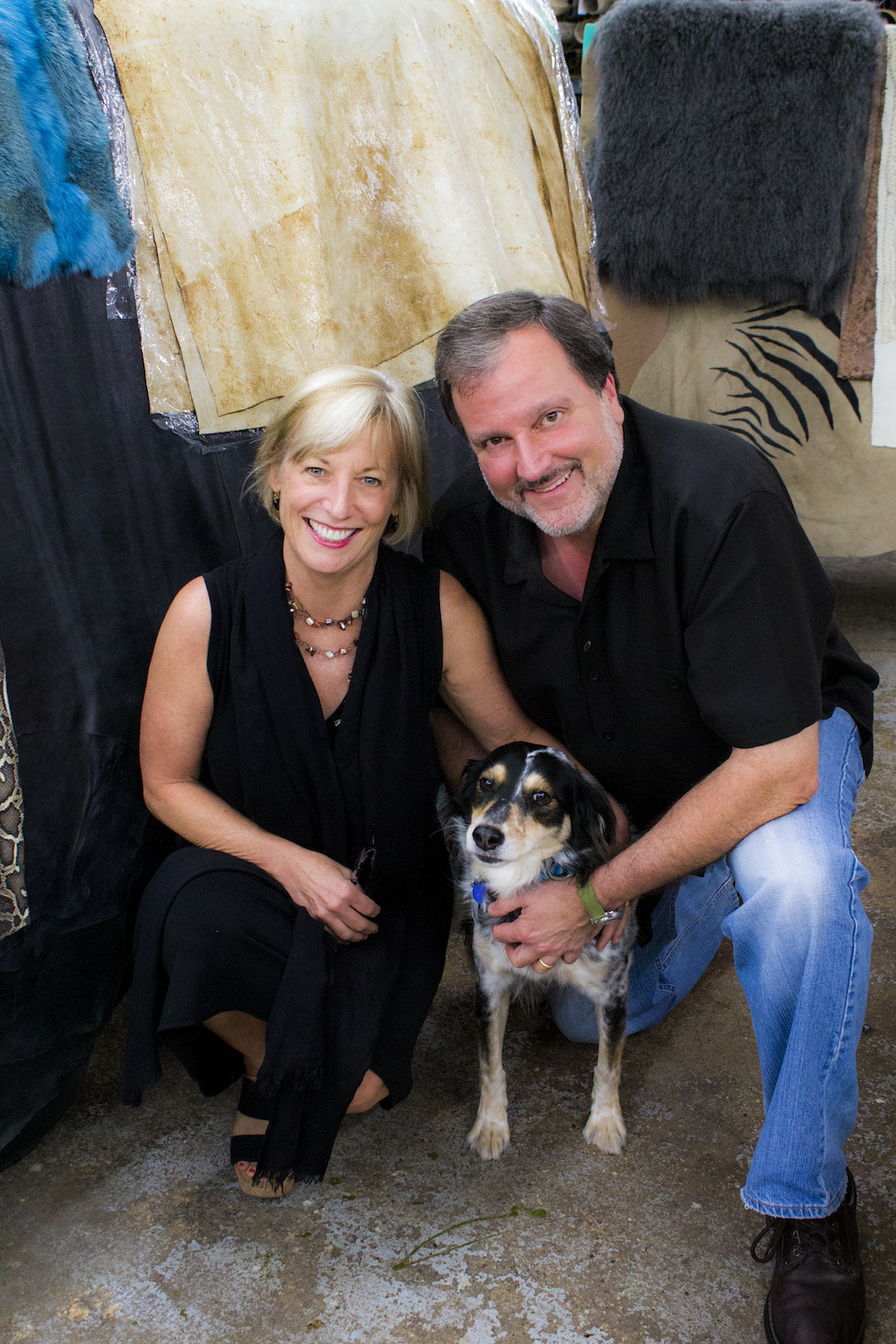 Greg & Lois Hochhauser and their pet Izzy