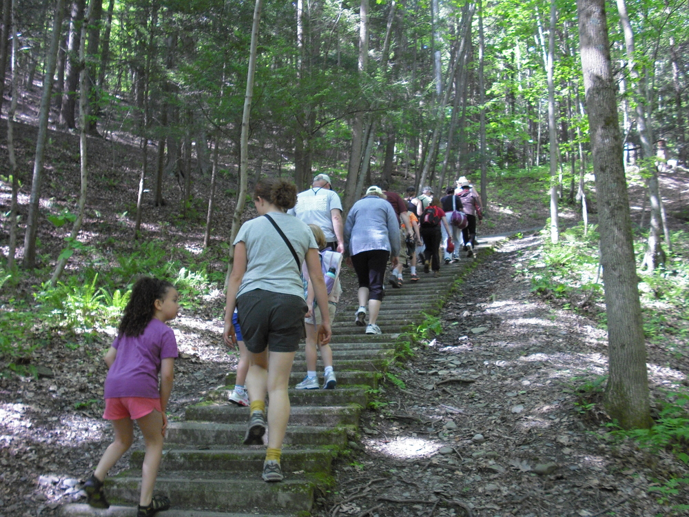 "One of my greatest pleasures is coaching all ages, abilities and people from around the world as they venture into the woods at Taughannock Falls State Park in Trumansburg, NY off route 89, during one of my many monthly hikes in the ""gorges"" Finger Lakes Region of upstate NY."