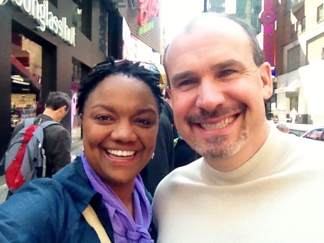 Michelle in Times Square with coaching and meditation client, Richard Bitner, a fellow Cornell alumni and current CEO in Dallas.