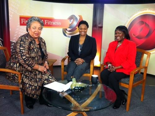 "Michelle (middle) appears on the PBS-affiliated show, ""Financial Fitness"" as an expert on ""stress management for generational differences at work"" with host Vicki Brackens (left) and leadership expert Gwen Webber-McLeod."