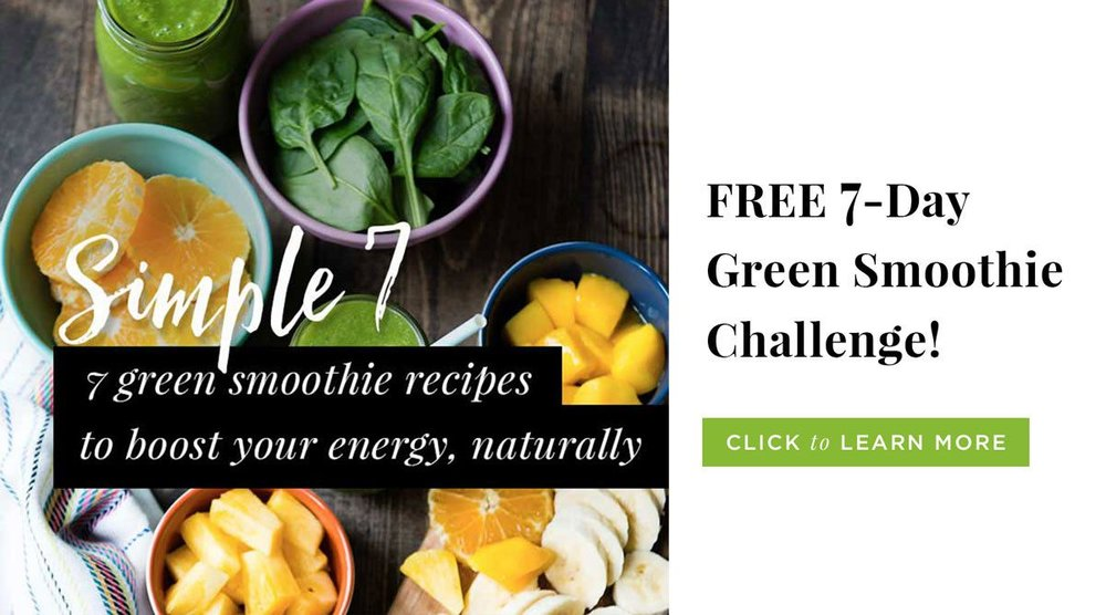 Join   our FREE 7-day green smoothie challenge   and get instant access to green smoothie recipes (that really taste good), a shopping list and a  guidebook  to help you along each day!