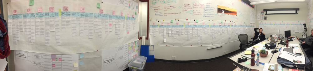 800+ affinity notes, three walls of post-its and butcher paper, and two weeks later our insights were born.