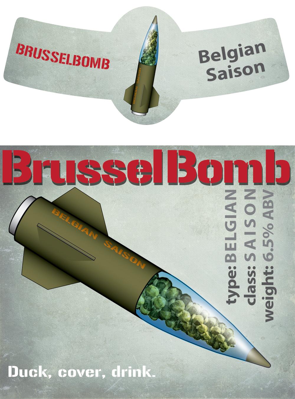 BrusselBomb Beer Label
