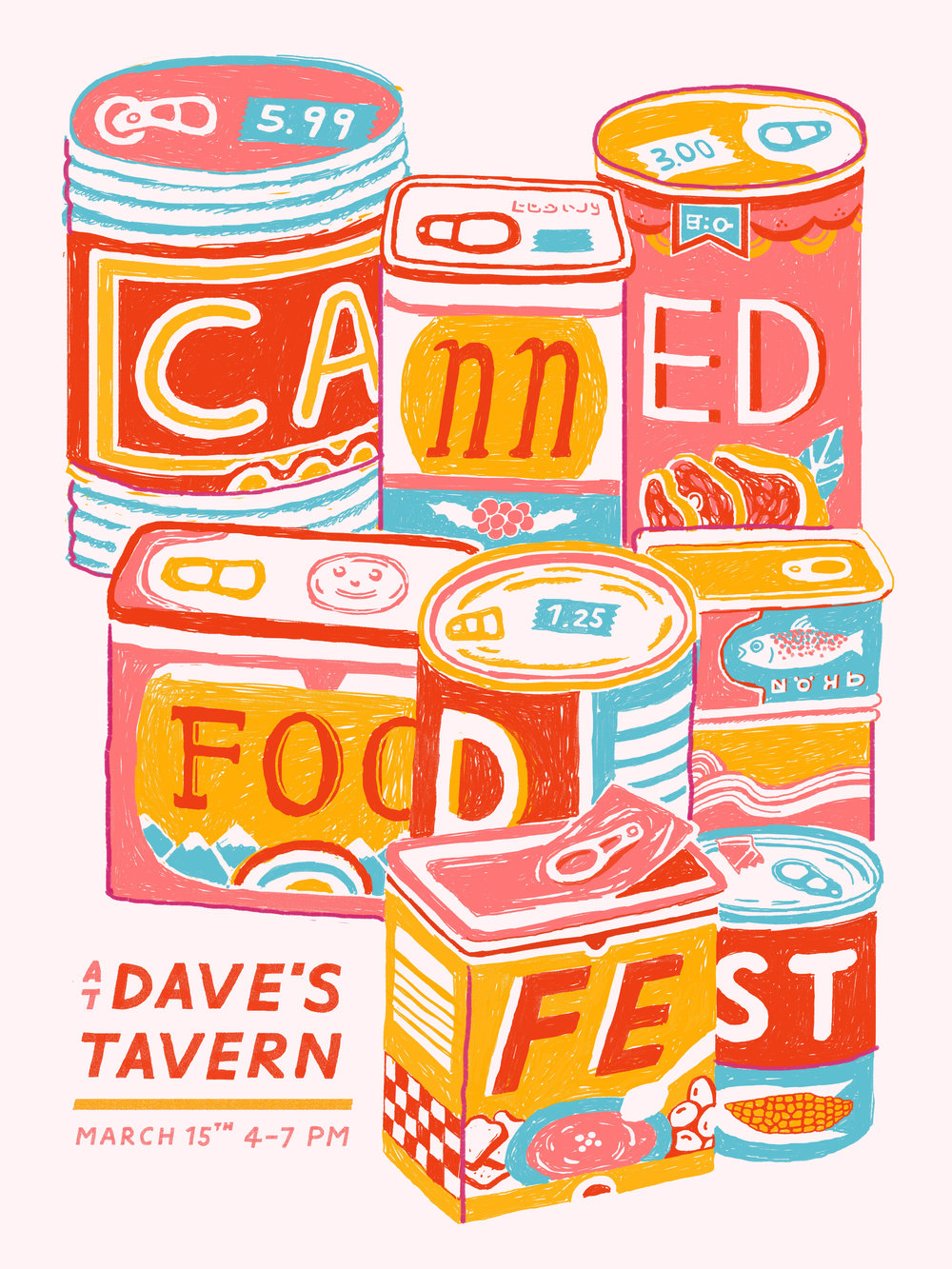 Canned Food Fest Poster