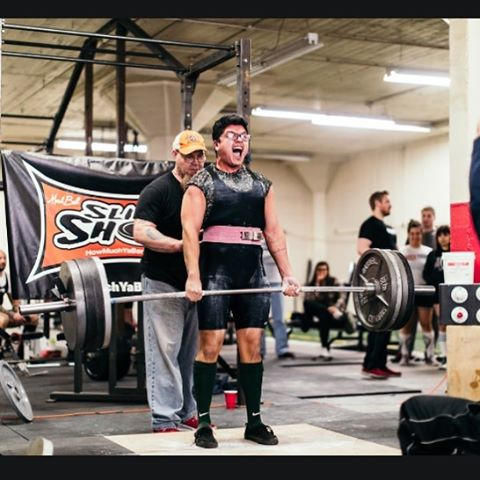 Nothing like seeing the raw excitement of a first timer hit PRs at their first ever meet! #flashbackfriday to @ireazzylifts_ pulling big. Excited to see what this guy can do it in the future! #powerlifting #deadlift #meet #upa #ironsidetraining photo: @mattgt3