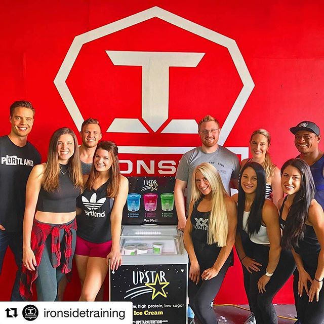 So much fun with the crew today! #squadgoals We are stoked to be a drop site for @upstarnutrition now.. low calorie, high protein ice cream that tastes BOMB. 👏🏽 . . But seriously... I have a freezer stocked with ice cream at work now.. I didn't even realize this dream could be possible. 😍🍦