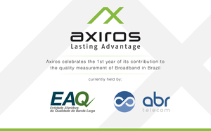 Axiros Celebrates the 1st Year of its Contribution to the Quality Measurement of Broadband in Brazil