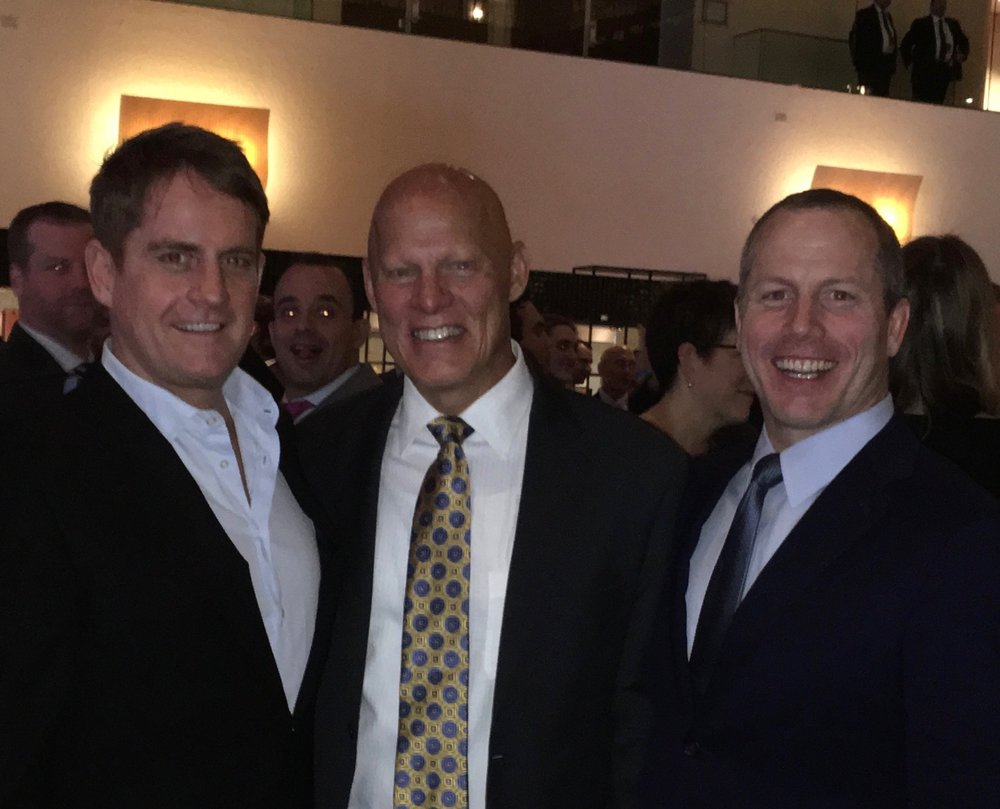 Erin Dutton and I with the former USSOCOM Deputy Commander,  Vice Admiral (SEAL) Sean Pybus  at the NYC Benefit Dinner