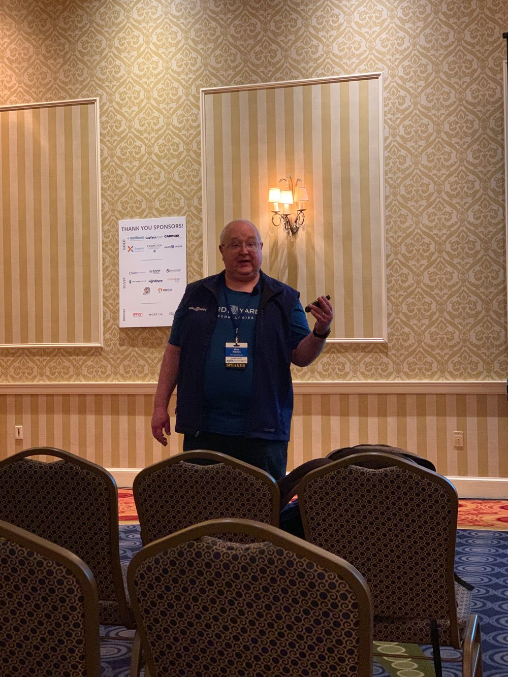 Back to the Basics: Mike Vizdos was selected to speak about the importance of the Scrum basics.