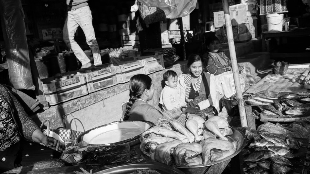 Market scene in Taunggyi, one of the major entrepôts near the Thalwin-Salween river.