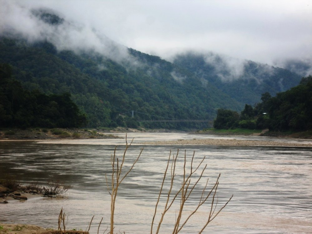 Bridge connecting the Eastern and Western sides of the Salween River