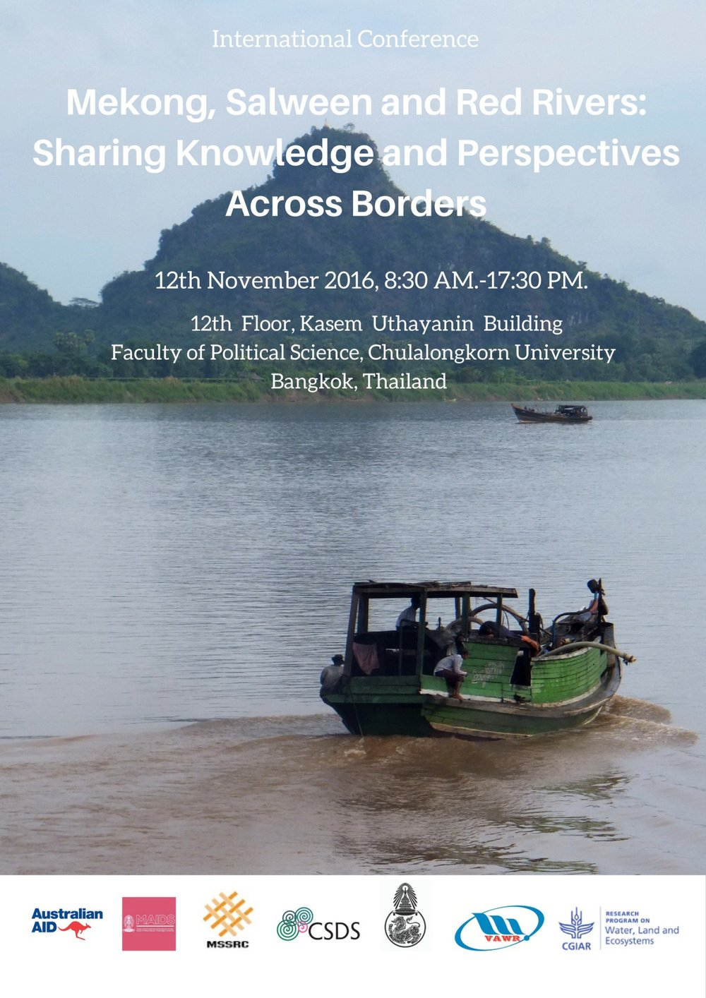 """""""Mekong, Salween and Red Rivers: Sharing Knowledge and Perspectives Across Borders"""""""