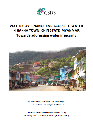 Water Governance and Access to Water in Hakha Town, Chin State, Myanmar
