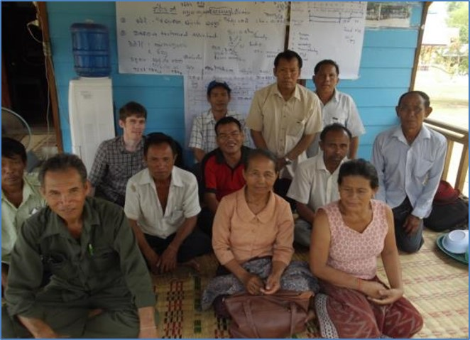 Farmers join a project meeting in Phonthan  Village, Savannakhet province (Credit: NAFC)