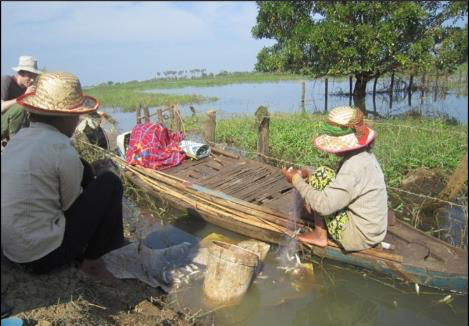 Small-scale fishers in Battambang Province around Tonle Sap Lake, Cambodia (Credit: Carl Middleton)