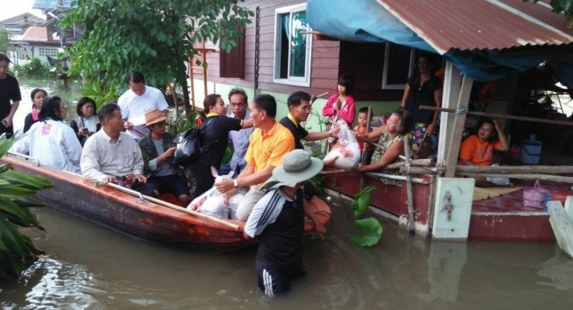 Flooding in Ubon Ratchathani (Source: Bangkok Post)