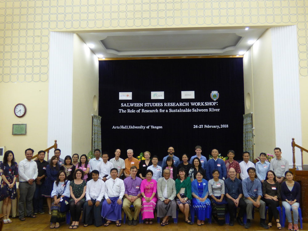participants of the 2018 Salween Studies Workshop (Credit: R. Irven)