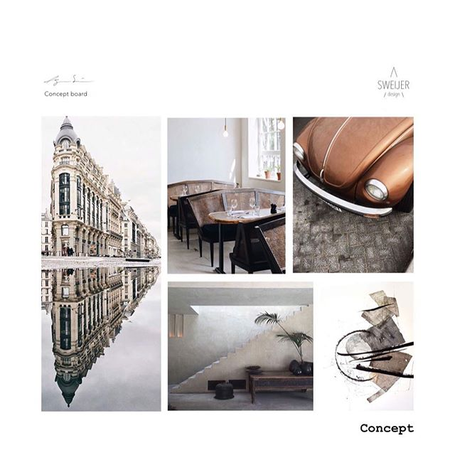 A Monday morning creating concept boards. Vintage ♡ Modern