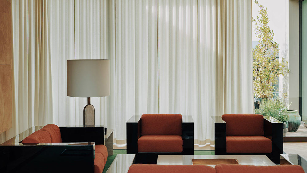 Bella Freud and Maria Speake interior at BBC Television Centre
