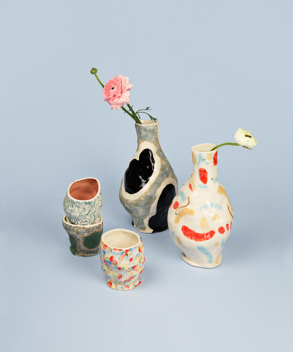 Jessica Hans Vase glossy cow miro_Jessica Hans Mug green cow melting pot sherbet.jpg
