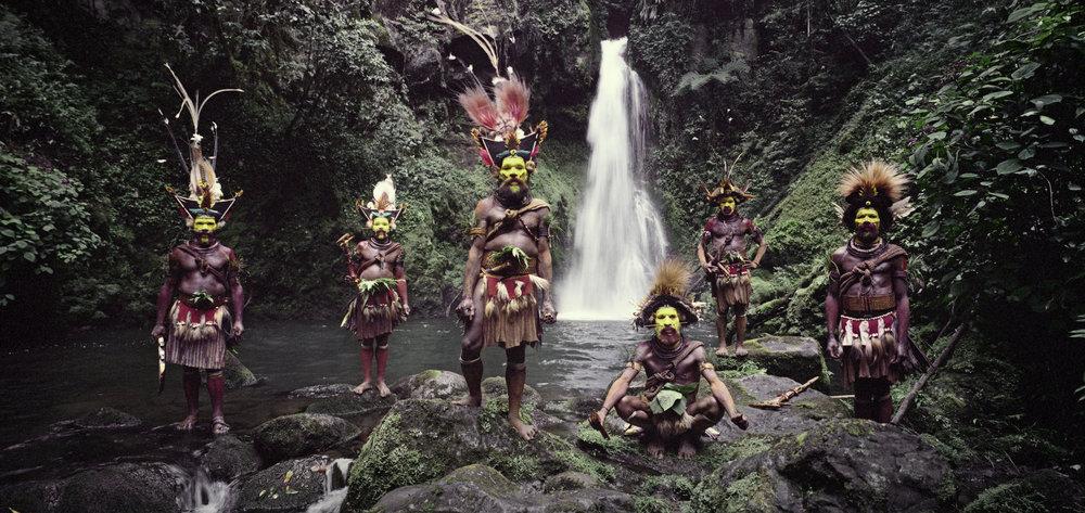 Huli Wigmen, Ambua Falls, Tari Valley, Papua New Guinea, 2010