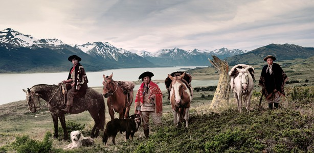 III 178 Christian Alejandro, Alfonso Mario, Requelme Brazo Sur, Lake Argentino/ Cerro Christal on horizon Patagonia Argentina, 2011