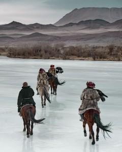 VI 468 - Kazakhs on ice Altantsogts, Bayan Olgii. Mongolia, 2011 - 74x62 cm.jpg
